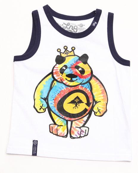 LRG Boys White Tie Dye Panda Tank (4-7)