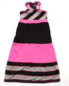 Dresses - NEON COLORBLOCK DRESS (7-16)