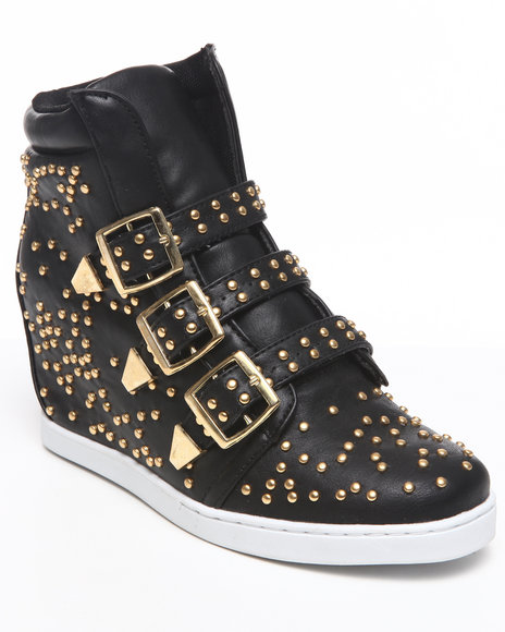 Fashion Lab Women Black Danick Wedge Sneaker