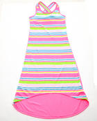 Dresses - HI LO STRIPED MAXI DRESS (7-16)