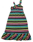 Dresses - ONE SHOULDER STRIPED MAXI DRESS (7-16)