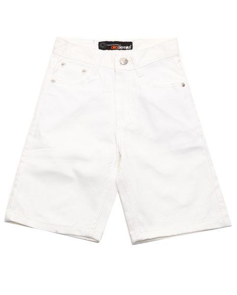 Akademiks Boys White Bull Denim Shorts (4-7)