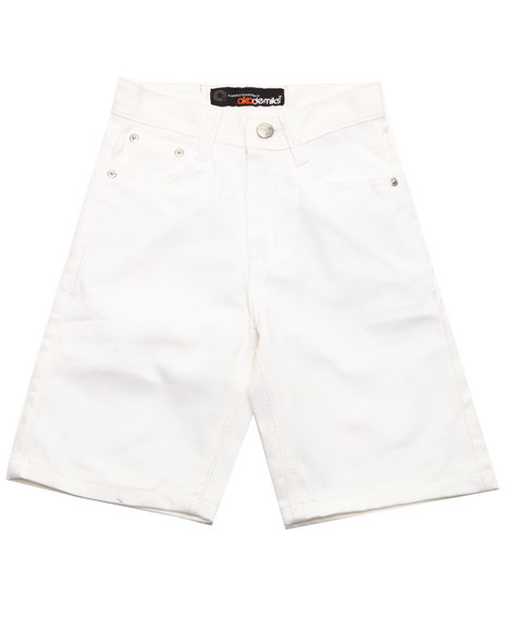 Akademiks Boys White Bull Denim Shorts (8-20)