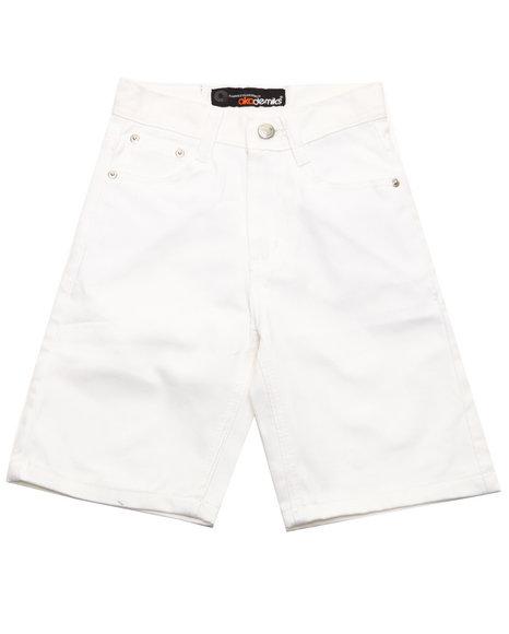 Akademiks Boys White Bull Denim Shorts (8-20)