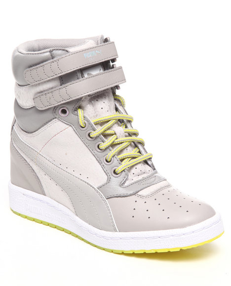 Puma Women Grey Sky Wedge Animal Wn's Sneakers