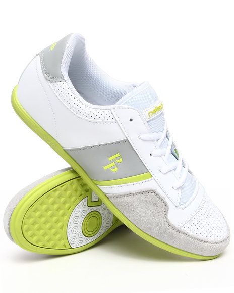 Pelle Pelle Men Lime Green Sole Low Top Sneaker