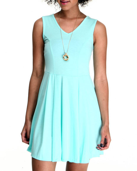 Fashion Lab Women Blue Lindy Sleeveless Dress