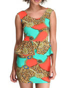 Women - Wiz All Over Printed Peplum Dress