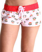 Shorts - Multi Circle Julius Pink Board Short
