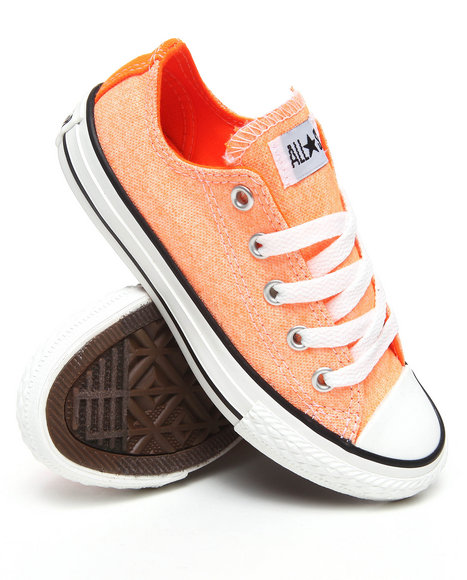 Converse Girls Orange Neon Chuck Taylor All Star (11-3)