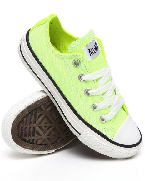 Converse Girls Yellow Neon Chuck Taylor All Star (11-3)