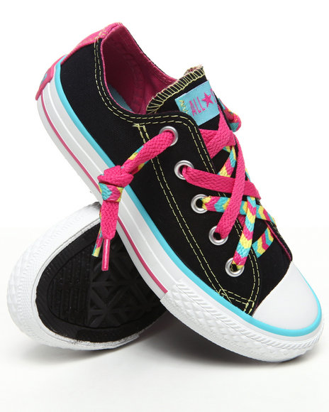 Converse Girls Black Chuck Taylor All Star Kriss N' Kross (11-3)