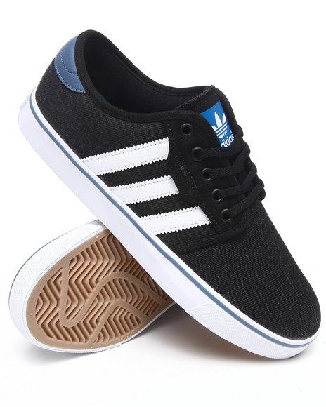 Adidas Men Black Seeley Denim Skate Sneakers