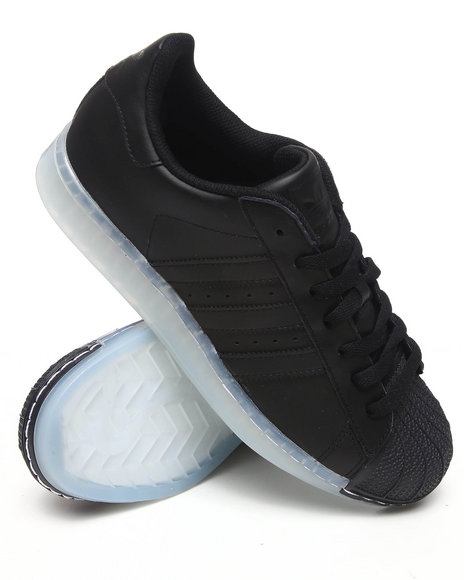 Adidas Men Black Superstar Clr Ice Bottom Sneakers