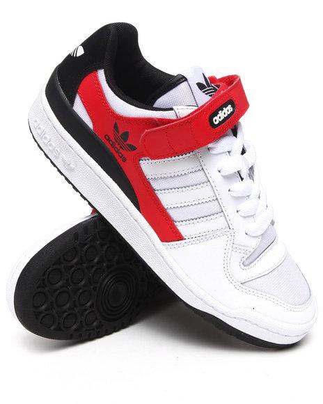 Adidas Men White Forum Lo Sneakers