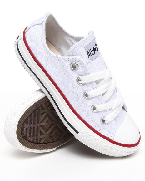 Converse Girls White Chuck Taylor All Star Lo (11-3)
