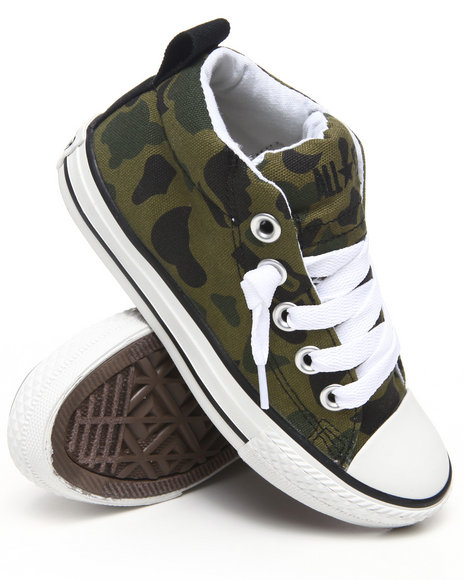 Converse Girls Camo Chuck Taylor All Star Street (11-6)
