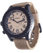 Hip Hop Accessories - Beige Safari Watch