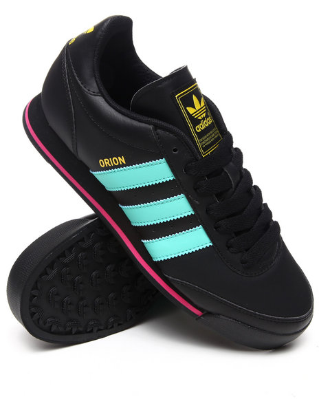 Adidas Men Black Orion Leather Sneakers