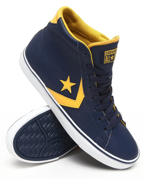 Converse Men Navy Pro Leather Vulc Sneakers