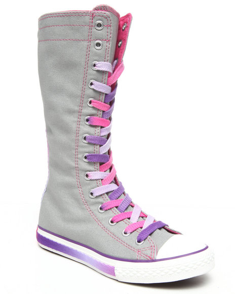 Converse Girls Grey Chuck Taylor All Star Tall (11-3)
