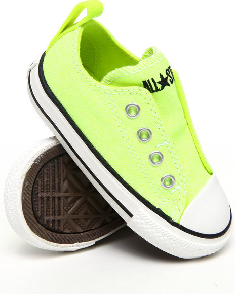 Converse Girls Yellow Neon Chuck Taylor Simple Slip (5-10)