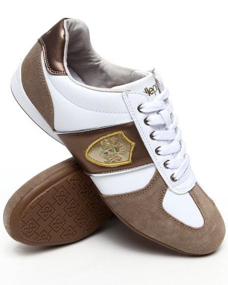 Pelle Pelle Men White Crest Lace Up Sneaker