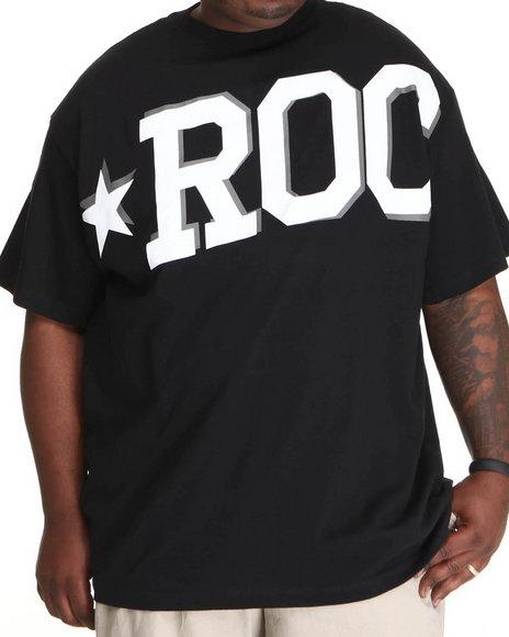 Rocawear Men Black Roc Star S/S Tee (B&T)