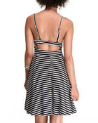 Women - Marie strap stripe dress