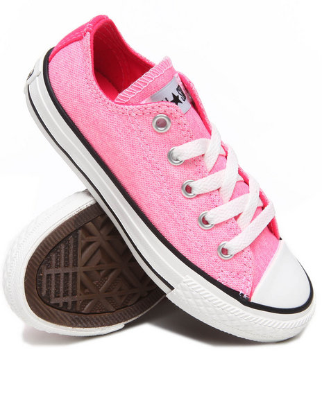 Converse Girls Pink Neon Chuck Taylor All Star (11-3)
