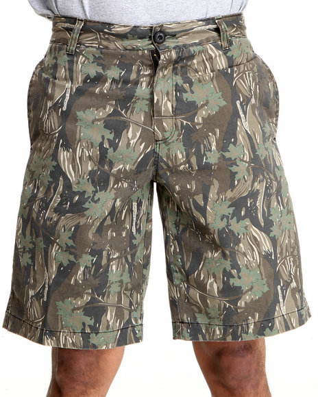 Drj Army/Navy Shop - Men Camo 5 Pocket Flat Front Shorts