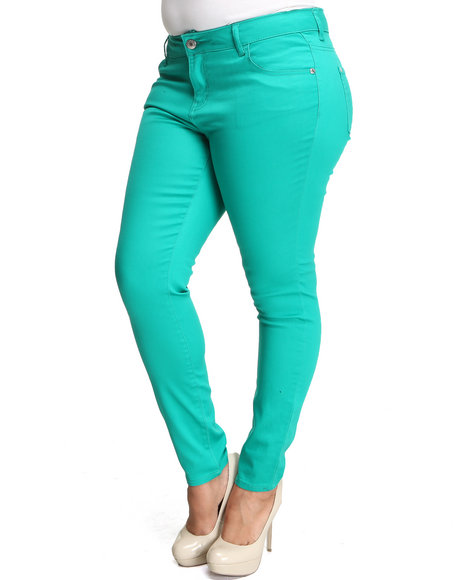 Celebrity Pink Women Forest Green Celebrity Pink Colored Skinny Jean (Plus Size)