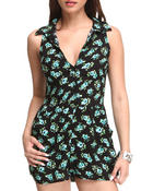 Fashion Lab - Daisy Halter Top Floral Romper