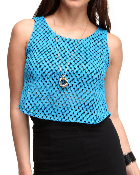 Fashion Lab - Peek-a-Boo Crop Top