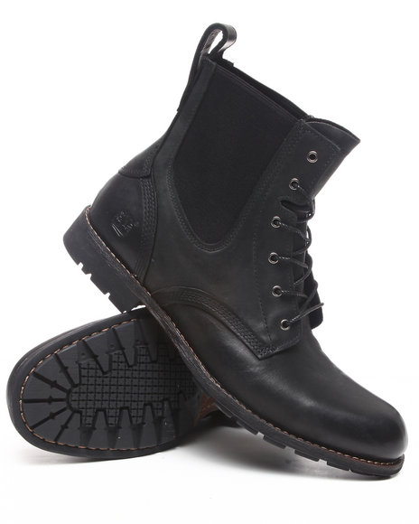 Timberland Men Black Earthkeepers City Premium Chelsea Full Grain Leather Boots