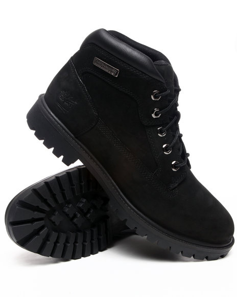 Timberland Men Black Nm Camp Leather Boots