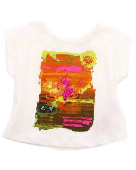 Baby Phat Girls White Sunset Graphic Top (7-16)