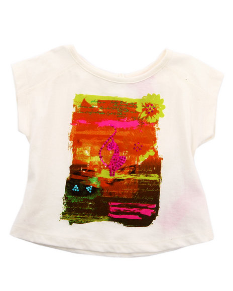 Baby Phat Girls White Sunset Graphic Top (Infant)