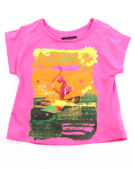Baby Phat Girls Pink Sunset Graphic Top (4-6X)