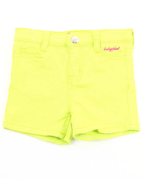 Baby Phat Girls Lime Green Twill Shorts (7-16)