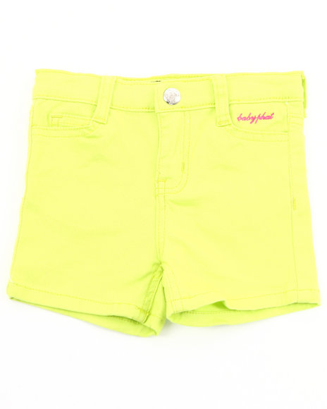 Baby Phat Girls Lime Green Twill Shorts (4-6X)