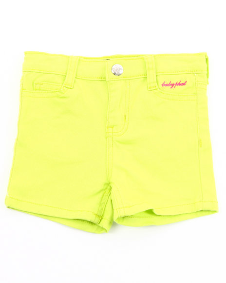 Baby Phat Girls Lime Green Twill Shorts (2T-4T)