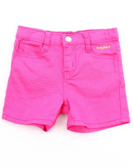 Baby Phat Girls Pink Twill Shorts (4-6X)