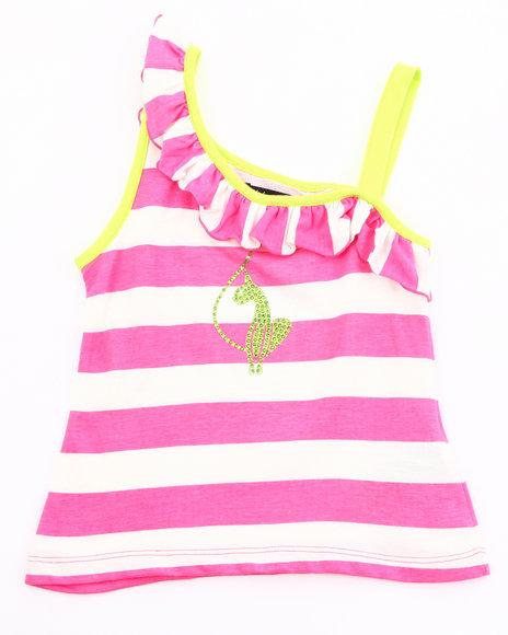 Baby Phat Girls Pink Striped One Shoulder Top (4-6X)