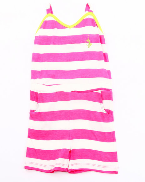 Baby Phat Girls Pink Striped Romper (7-16)