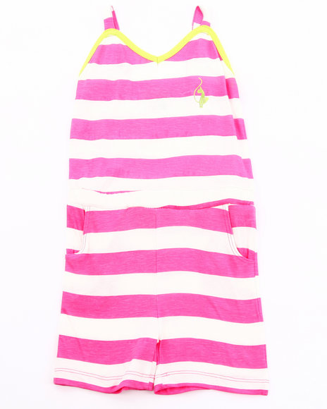 Baby Phat Girls Pink Striped Romper (2T-4T)