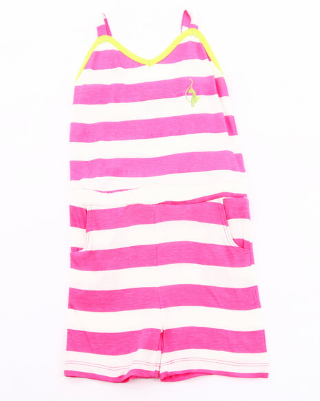 Baby Phat Girls Pink Striped Romper (4-6X)