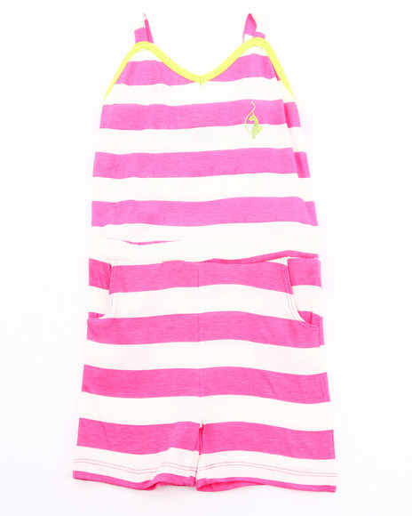 Baby Phat Girls Pink Striped Romper (Infant)