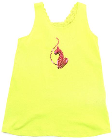 Baby Phat Girls Lime Green Crochet Back Tank (7-16)