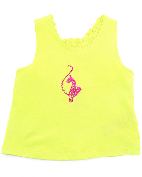 Baby Phat Girls Lime Green Crochet Back Tank (4-6X)